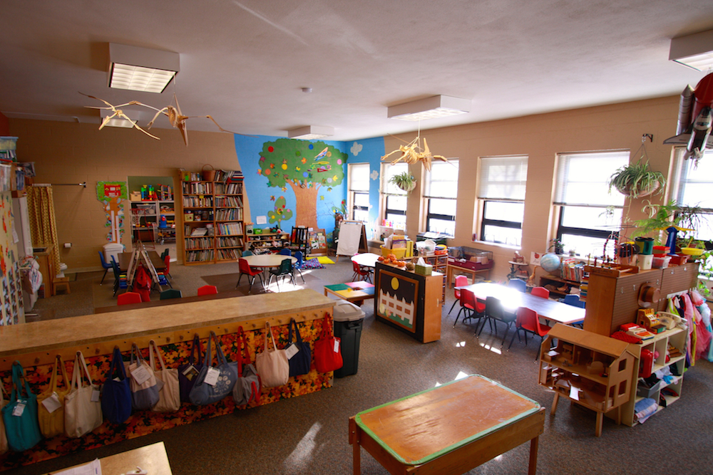 The Sibling Nursery Meets In A Room Down Hall From Classrooms Participating Parents Take Turns Supervising Children