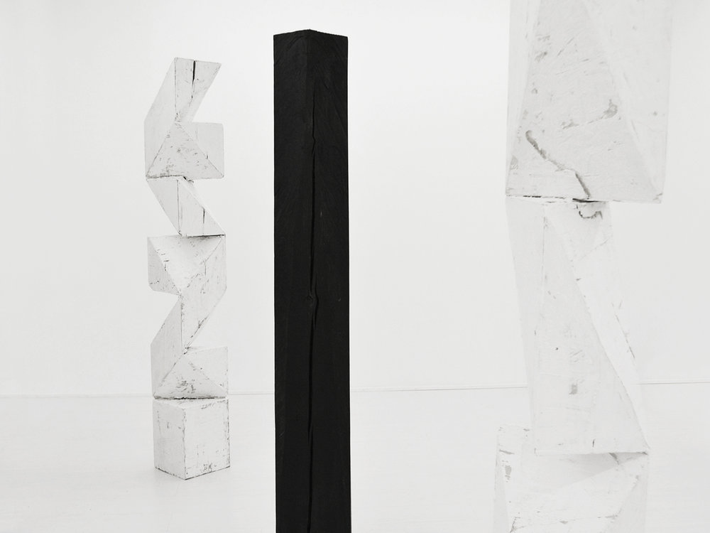 aldo chaparro  approaching silence  wood, plaster  variable dimensions  2014