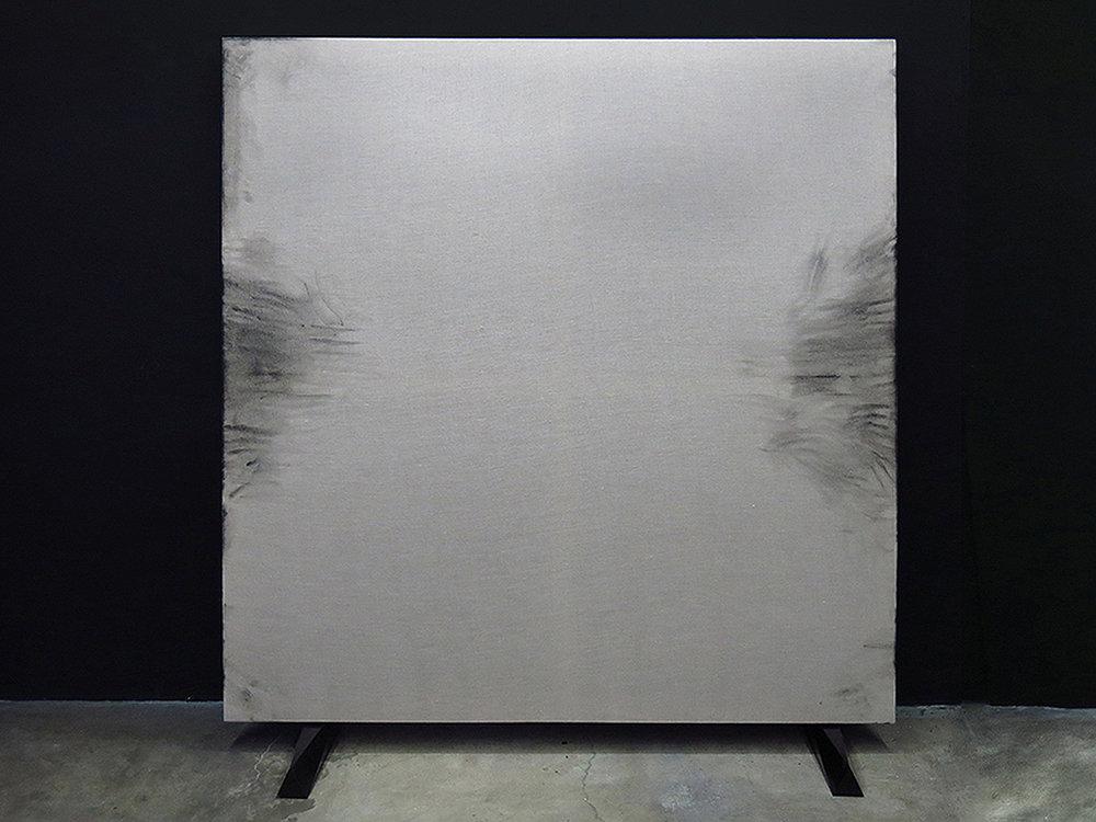 aldo chaparro  kenzo  oil on linen, marble  180 x 180 cms  2014