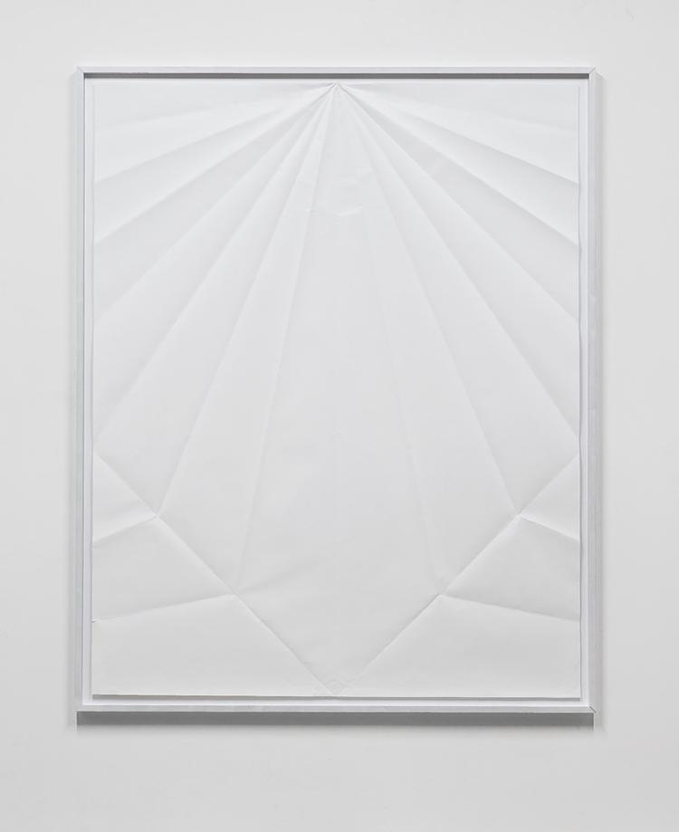 gonzalo lebrija  unfolded paper plane  paper  190 x 150 cms  2013