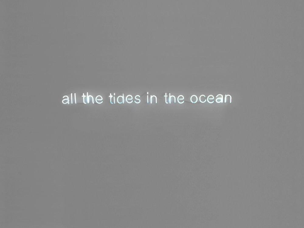 linnea goransson  all the tides  neon  250 x 16 cms  2015