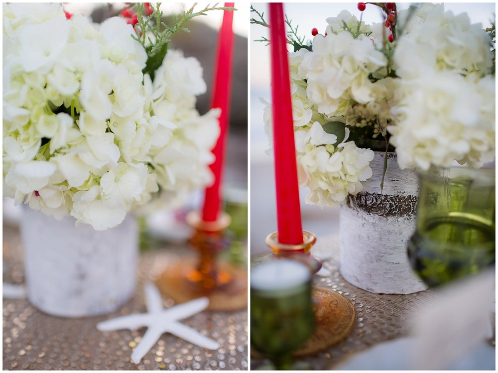 winter beach tablescape florals by details flowers @psjphotography