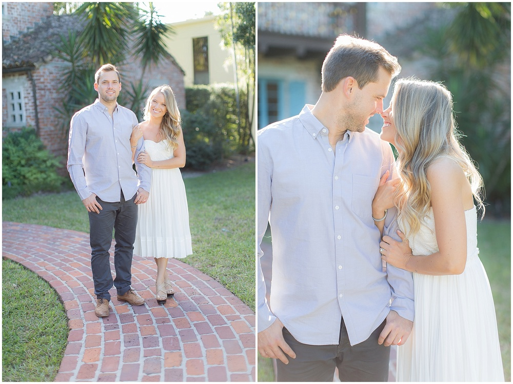 Bright Winter Park Engagement at Casa Feliz  |  PSJ Photography