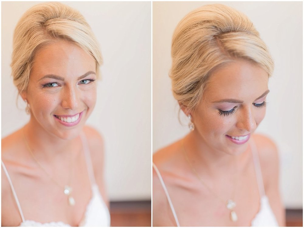 Elegant bridal portraits of gorgeous bride at Tiffany Blue, Summer Wedding