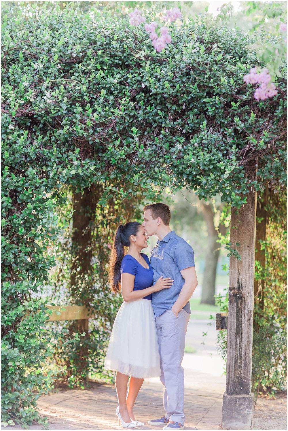 Confederate Jasmine Downtown DeLand Engagement Session