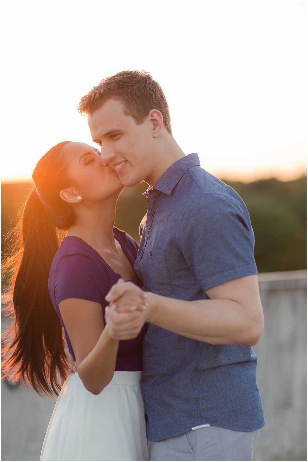 Sunset Downtown DeLand Engagement Session