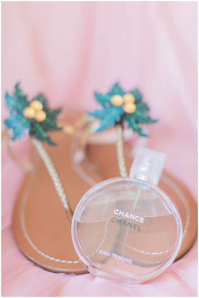 Kate Spade Flats Palm Tree Sandals for the Bride and Chanel