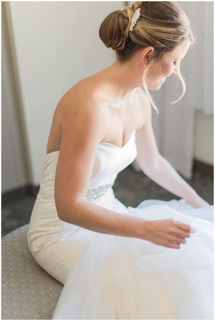 Bridal Getting Ready Portrait in Hayley Paige