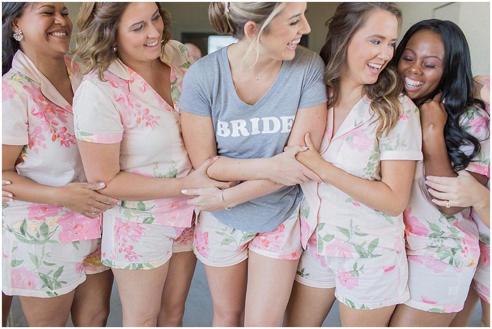 Bridesmaids Getting Ready in Plum Pretty Sugar