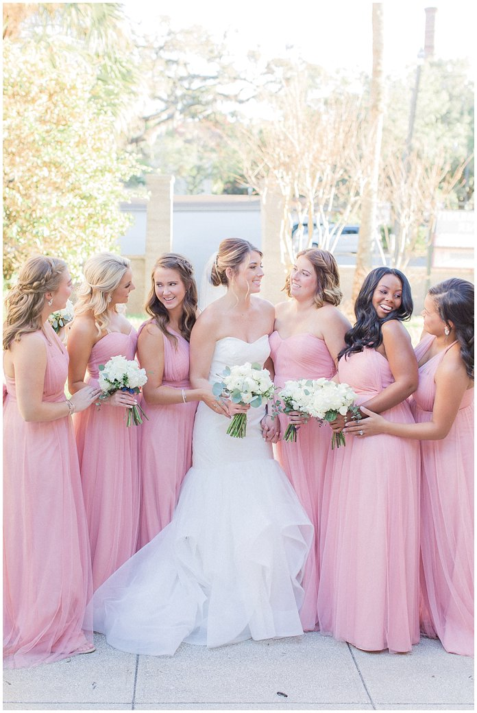 Blush Jenny Yoo Bridesmaids at St Augustine River House Wedding