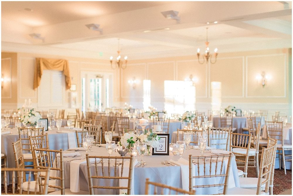 Light Grey and White Reception Details at the River House in St Augustine