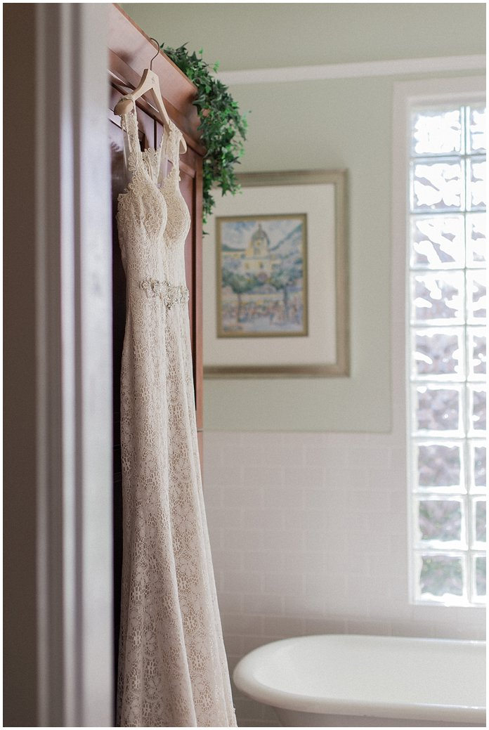 BHLDN lace wedding gown