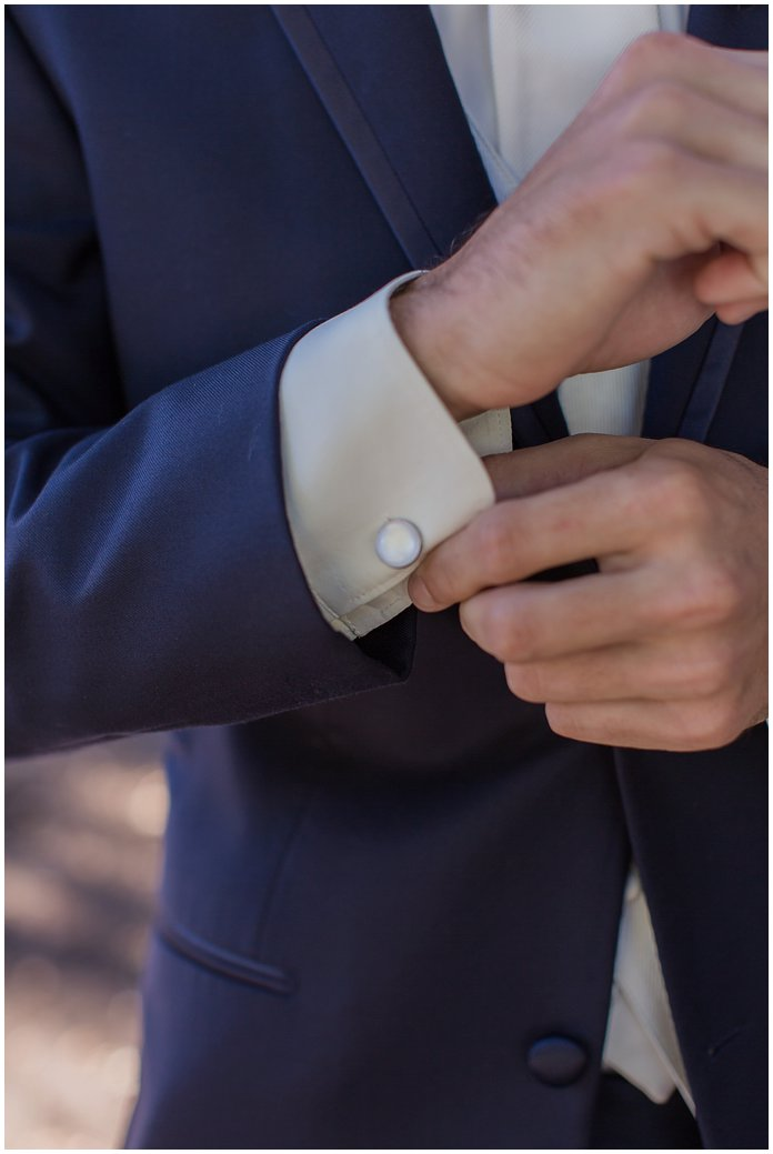 Groom Details in Navy Suit