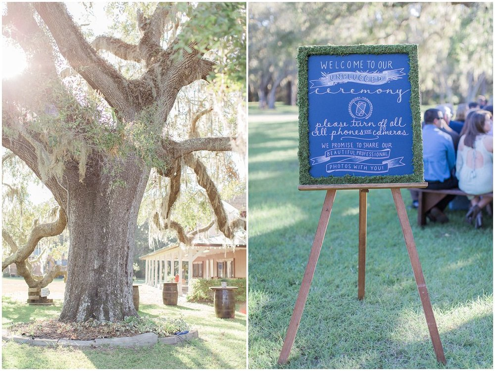 Giant Oak Tree and Cocktail Hour Area at St Augustine Wedding