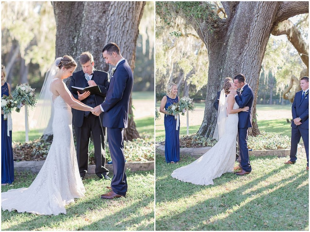First Kiss Under Giant Oak Tree in St Augustine