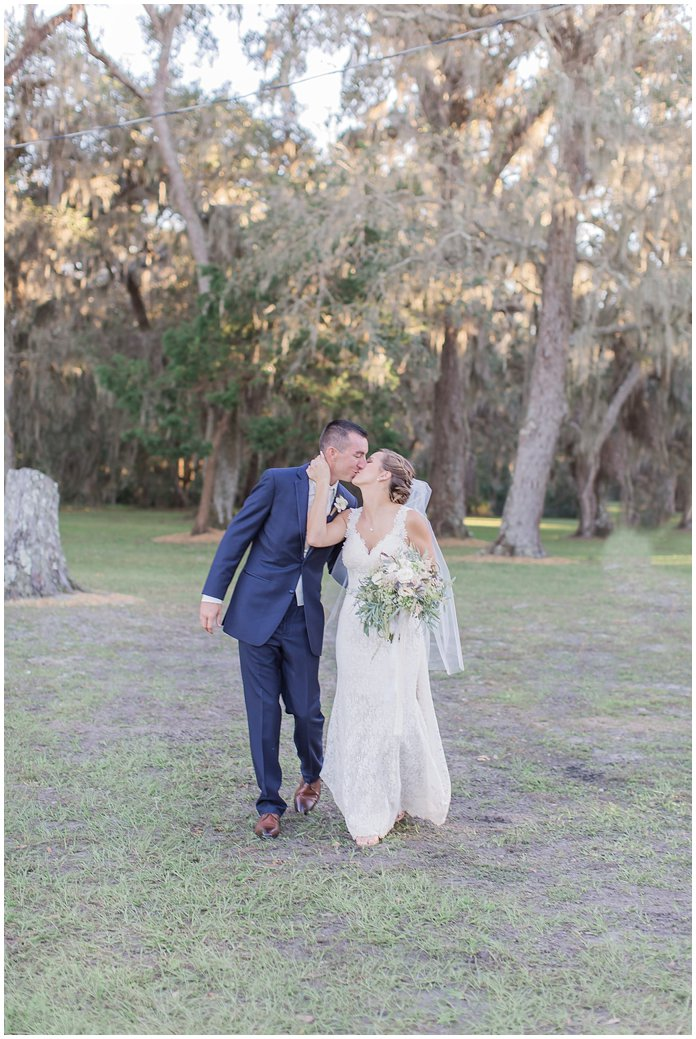Bride and Groom Portraits at St Augustine Fall Wedding