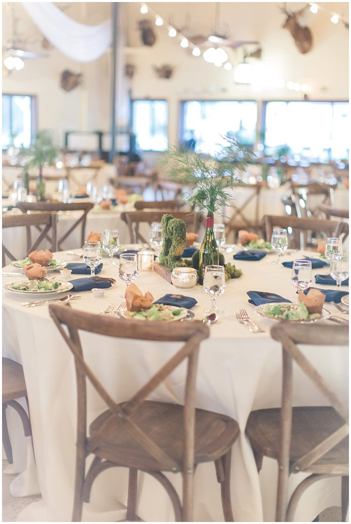 Organic and Earthy Wedding Reception with String Lights at St Augustine Gun and Rod Club