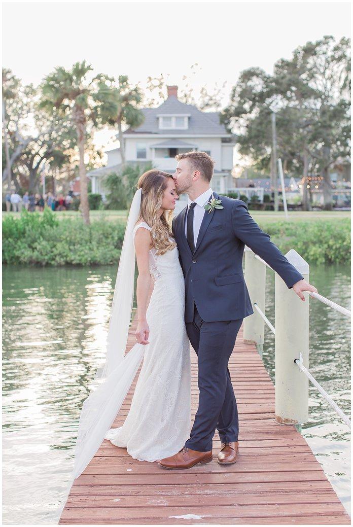 Sunset Dock Wedding Portraits at Night Swan Inn
