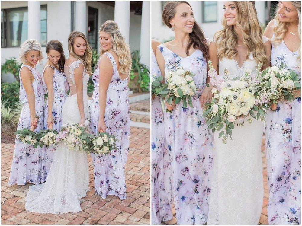 Bridal Portraits with Show Me Your MuMu floral bridesmaids dresses