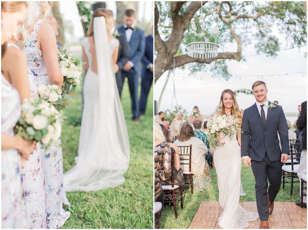 Outdoor Wedding Ceremony at Night Swan Inn New Smyrna