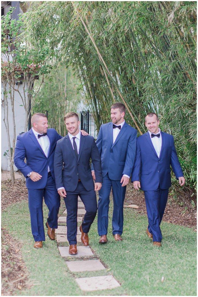 Dapper Groom and Groomsmen in Blue Suits