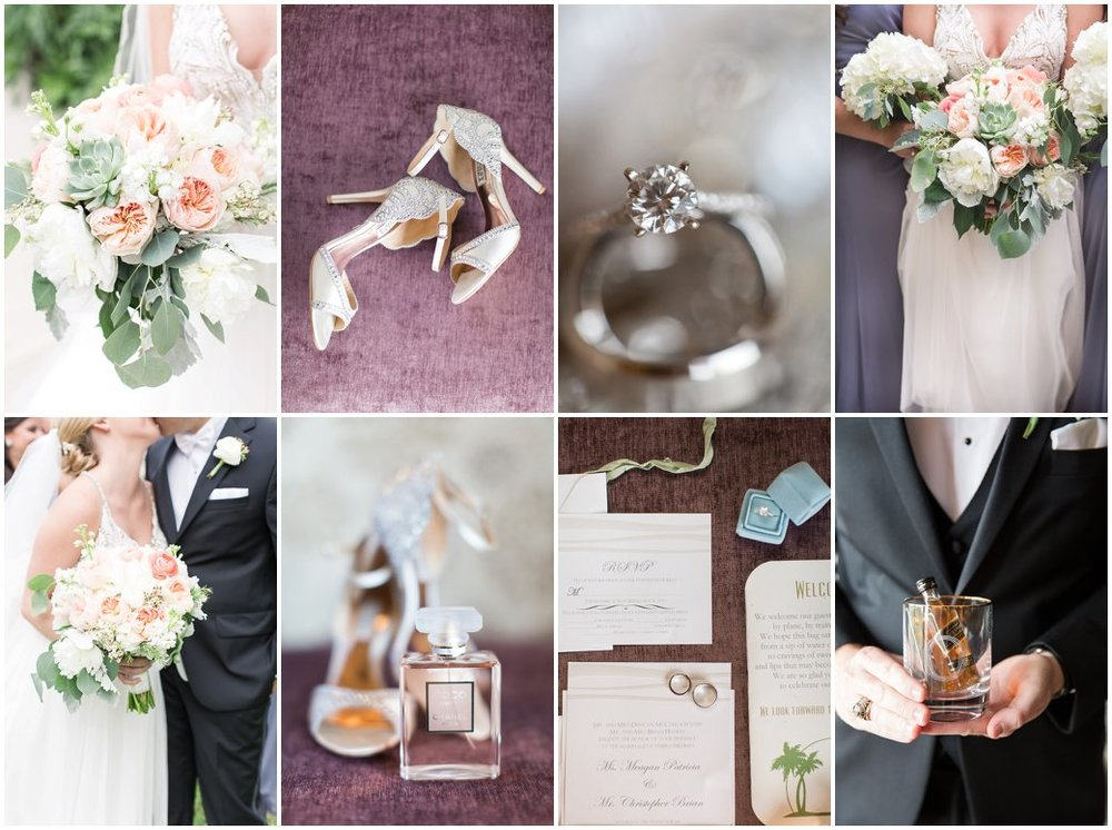 Wyndham Grand Resort at Bonnet Creek Grey and Peach Spring Time Wedding