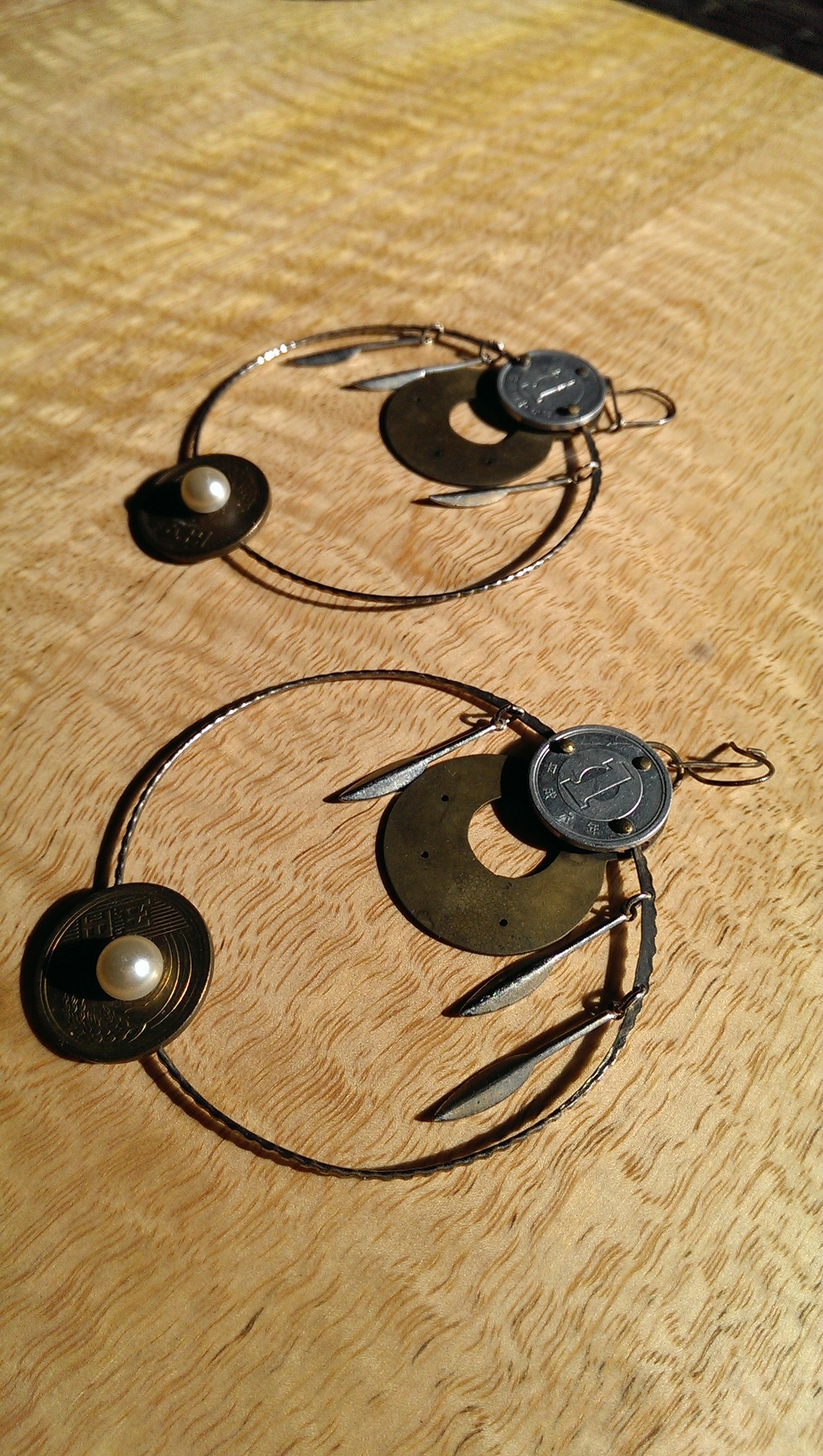 Japanese Penny Earrings as a wedding gift to Penny!