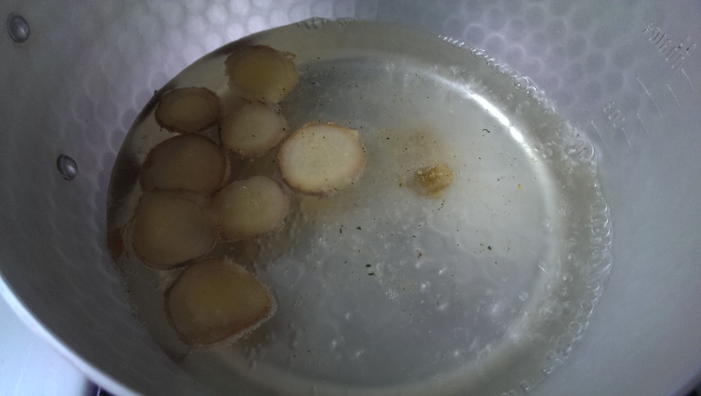 boiling ginger