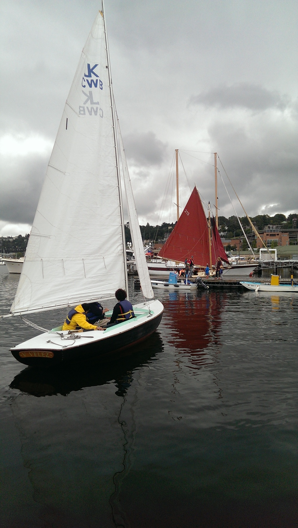 22 - Sail Boats - Amie on right