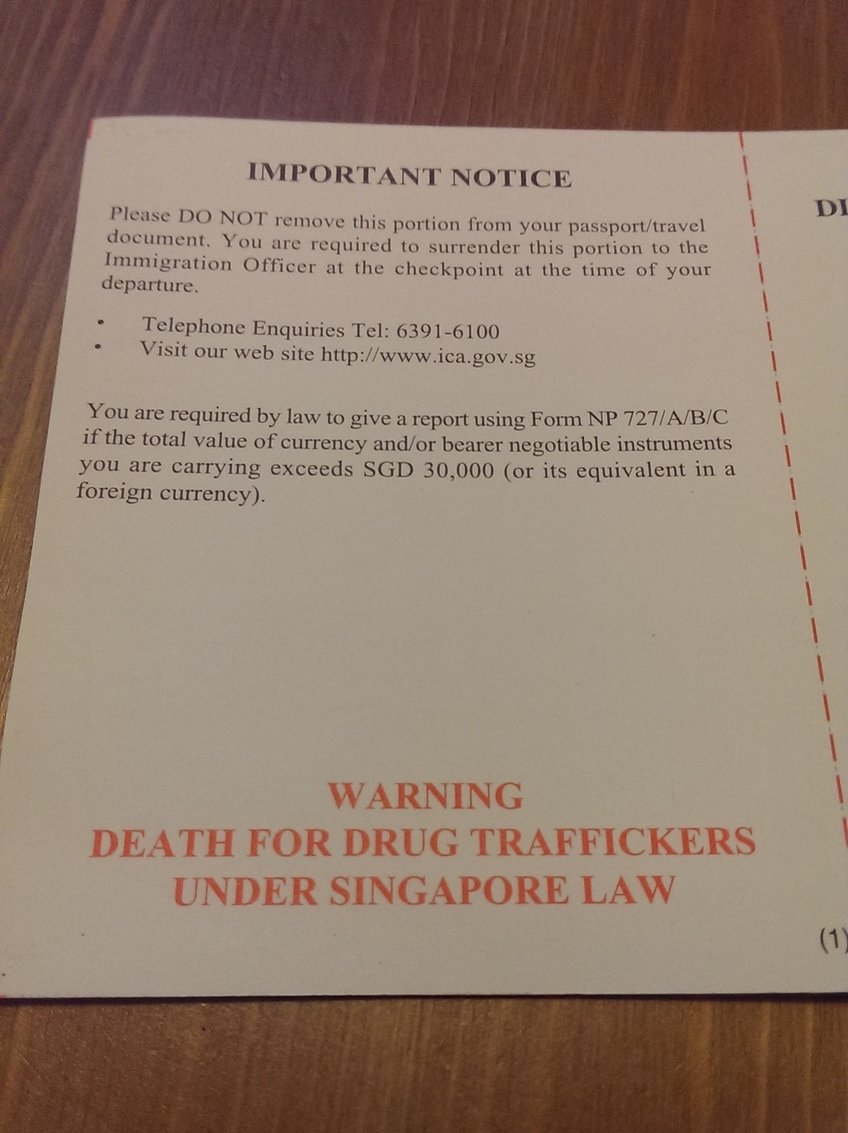 Warning - Death for Drug Traffickers Under Singapore Law... Thanks for the introduction!