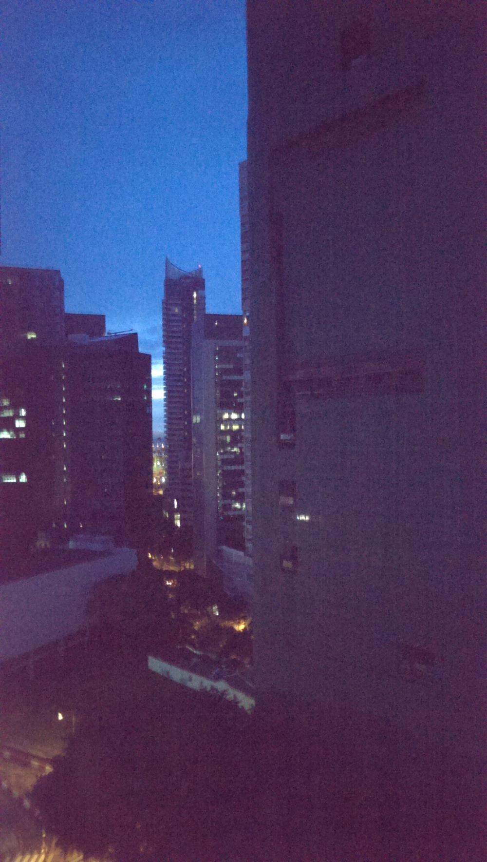 Early Dawn view of Singapore.