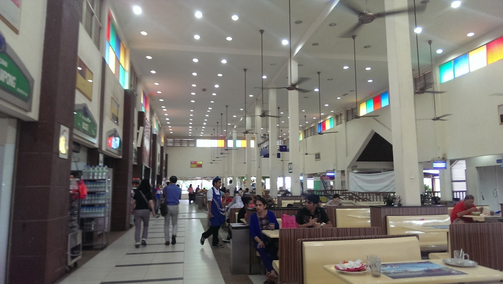 Food Court in the rest area off the highway.