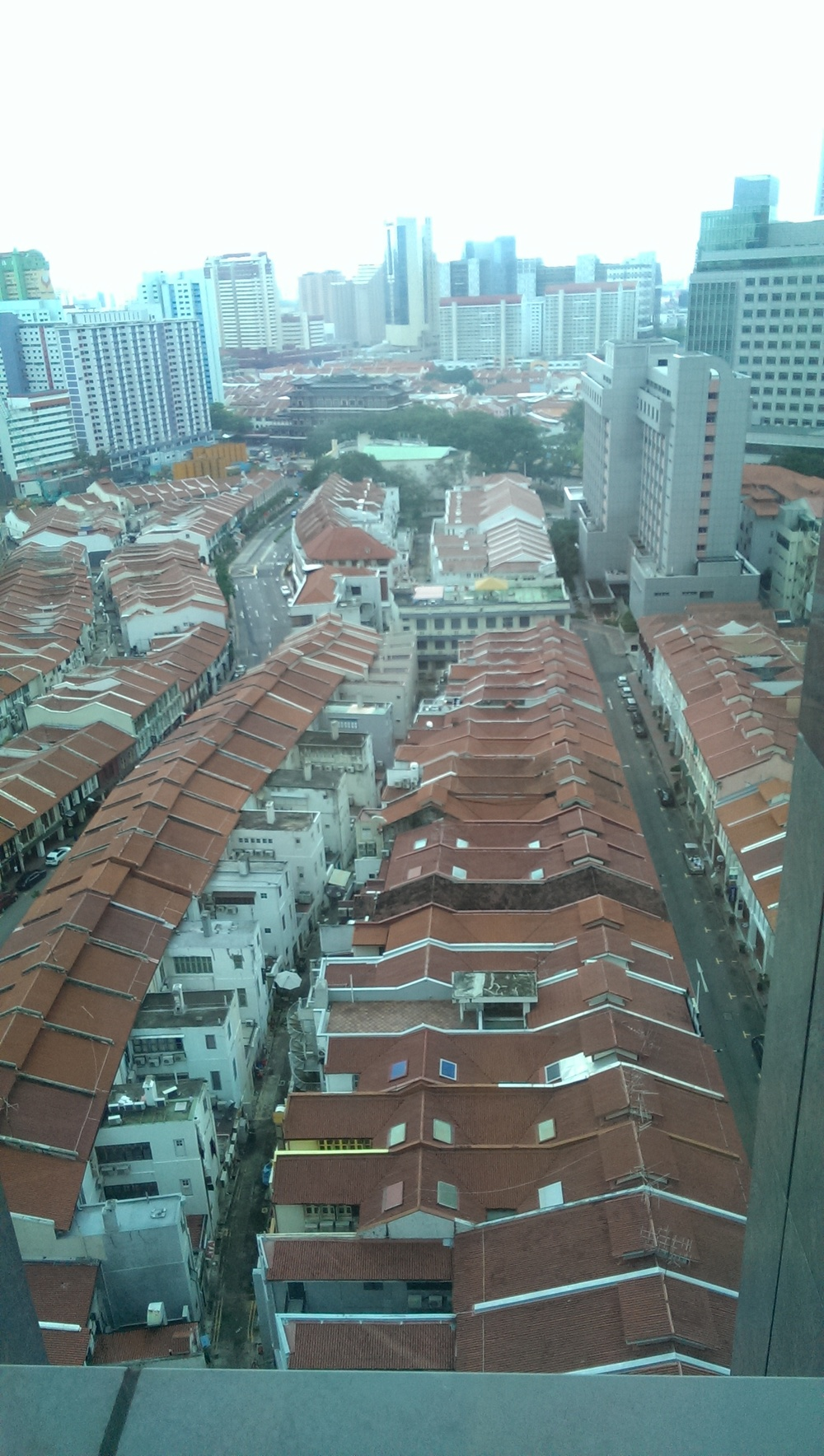 Tanjong Pagar road view from hotel.