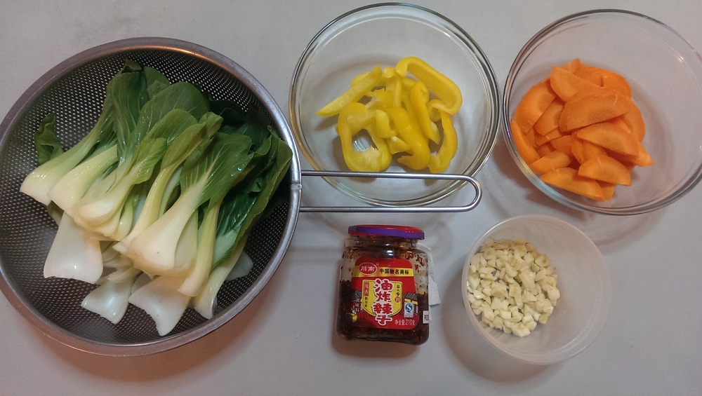 bok choy stir fry ingredients