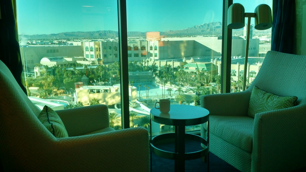 DAY 1 MANDALAY BAY ROOM VIEW SITTING AREA