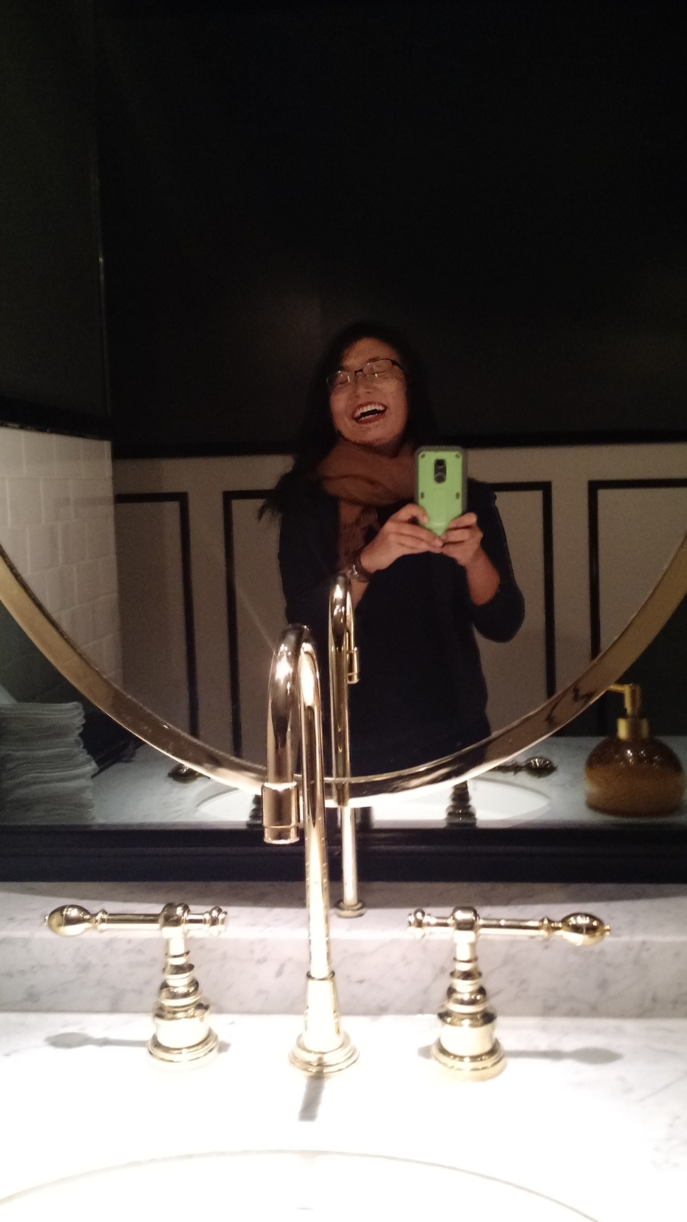 DAY 3 DINNER RESTAURANT BARDOT RESTROOM SELFIE