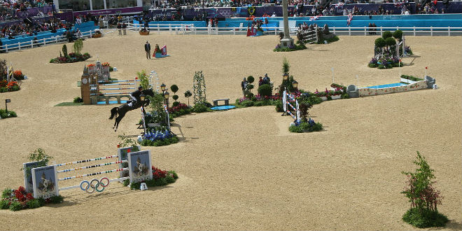 2012 Olympic Show jumping competition. (Photo: Ben Fitzgerald-O'Connor/ Wiki Commons