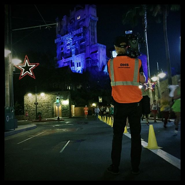 November 4, 2017 6:00AM - ish. @crazycowproductions myself and a couple thousand #RunDisney 10k participants populate #DisneysHollywoodStudios long before the sun comes up. #WDW #TowerOfTerror
