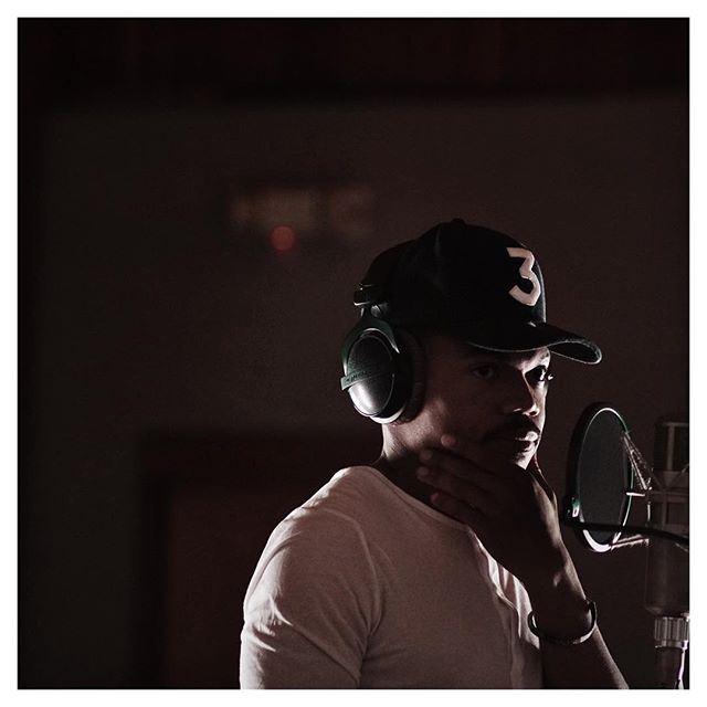 Here is a #RandomFind A dope shot of @chancetherapper from the #Emmys recording his segment from the opening film. #EpicFrame