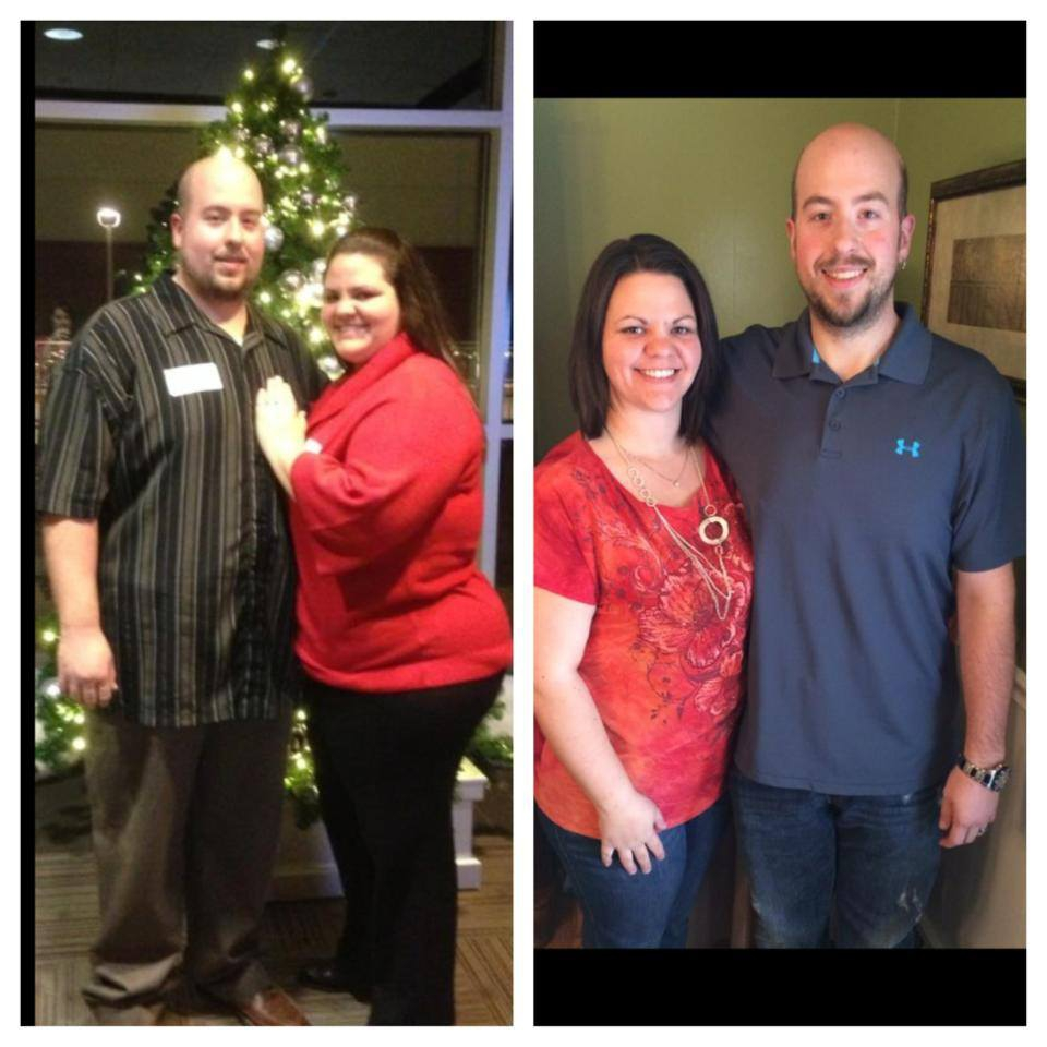 Over one year ago on April 1, 2013 my husband and I decided that we were tired of being overweight and uncomfortable with our bodies.  We have both been overweight since elementary school.  When we started out we decided that we would make a commitment to eating cleaner and make sure that we could stick to this commitment.  Not as a diet but as a lifestyle change.  After a couple months we realized we had done it without even thinking about it.  That is when we decided to call Katie, because we needed more education on eating cleaner.  I knew I didn't want to waste her time if we were not going to be completely committed.  So I called her up and told her we wanted in on the meal plan and workout plan.   I will admit that I was a little overwhelmed to begin with because I have been lazy all of my life when it comes to working out and always making excuses.  However, I was highly inspired by Katie and her love for helping us with any questions we had no matter how stupid.  It has now been over a year and my husband and I have lost a combined weight of 260 pounds.  He has gone from a size 48 pant to a 32 and I have gone from a size 24 pant to 14.  I know without a doubt we could not have come this far without the help, motivation, and inspiration from Katie.     I will say that as for me I have gotten lazy with my workouts again and keep making excuses including working 2 jobs and going to nursing school but I have continued the meal plan and continue to maintain my weight.  My husband has been going strong in the gym and has defined muscles in his arms he thought would never be seen.