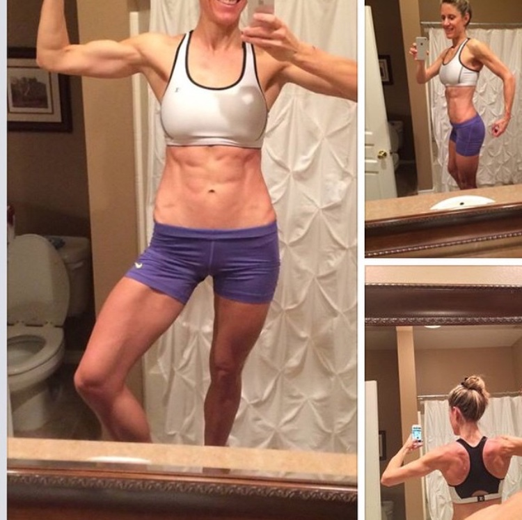 Continuation of Reverse Dieting where she has upped her carbs significantly and continued to lose body fat percentage