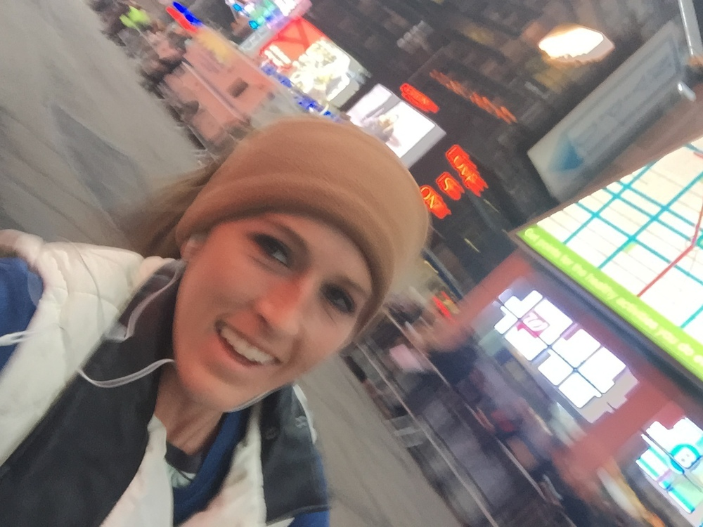 WOOHOO! Times Square running! Haha!! We passed Carnegie Deli and this was Walgreens that I worked at 3 years ago!
