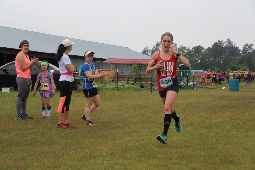 Ultras don't make you pay for race day photos-haha! Coming into the first loop feeling awesome here!