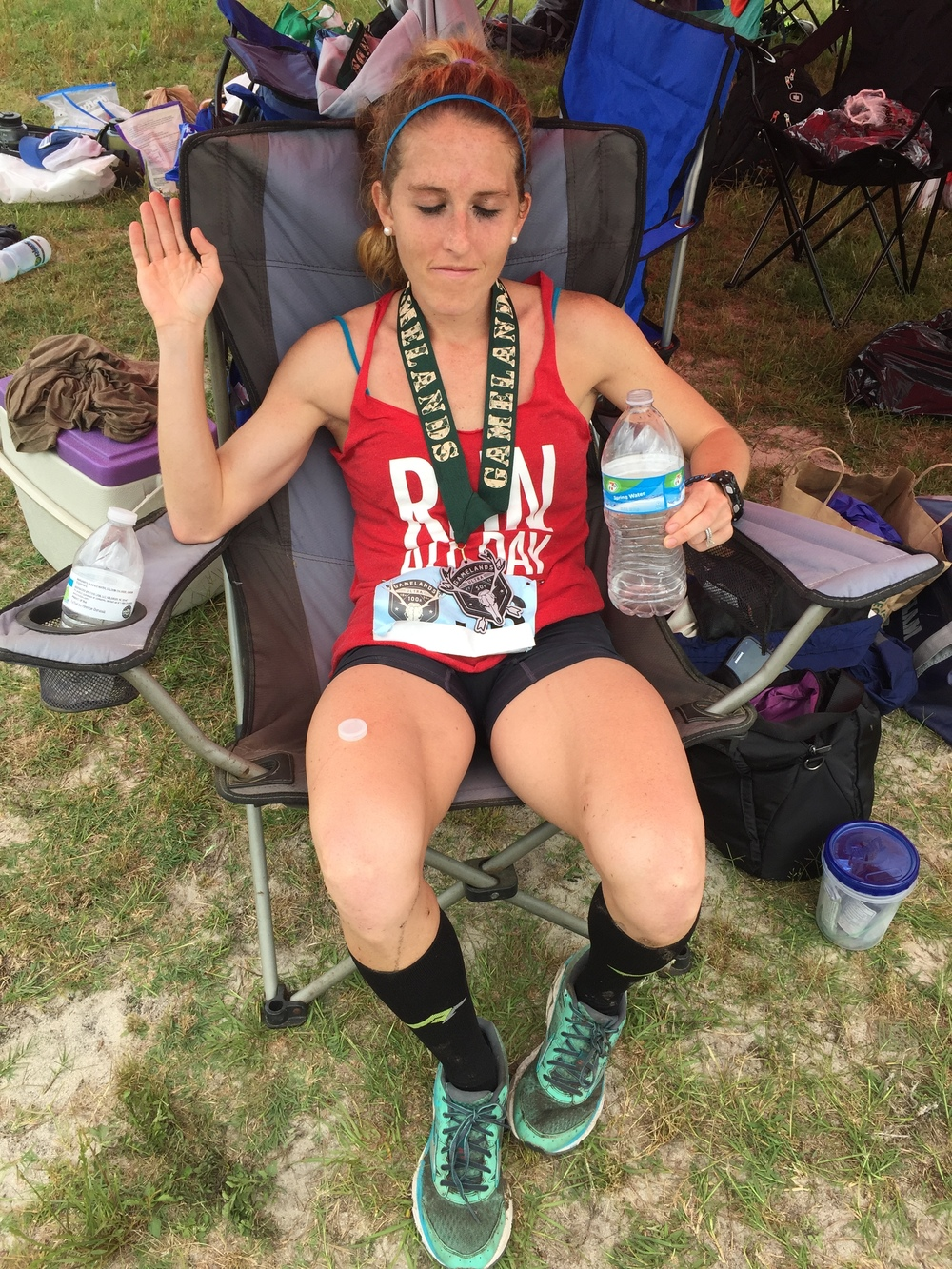 After the race feels...