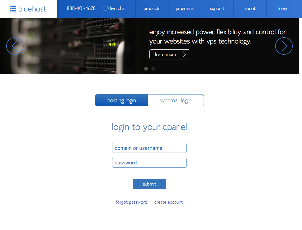 9- Bluehost_cPanel Login.png