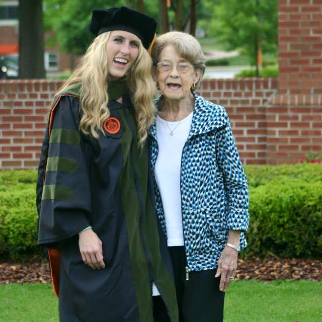 My grandmother that just recently passed at my graduation <3