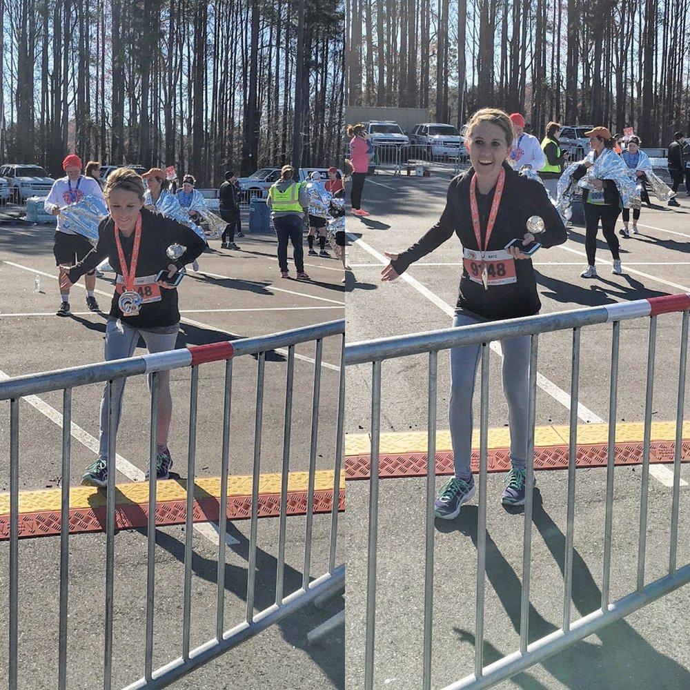 This is what walking looks like post marathon HA!