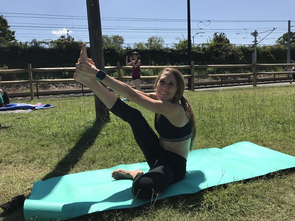 I'm clearly super good at yoga LOL!