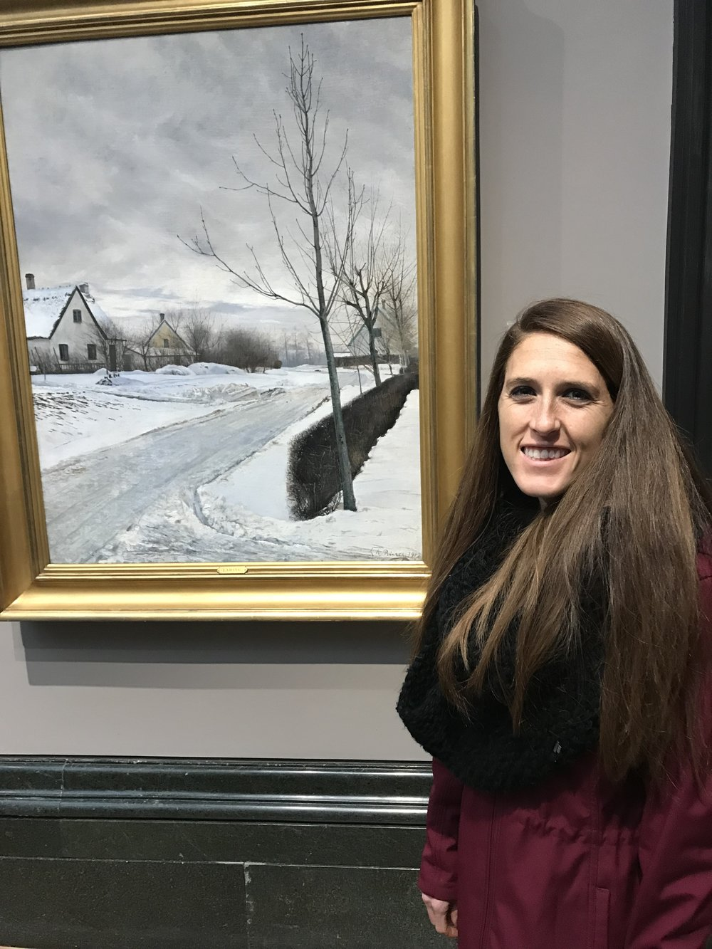 I just really liked this painting because I love snowy cold weather :)