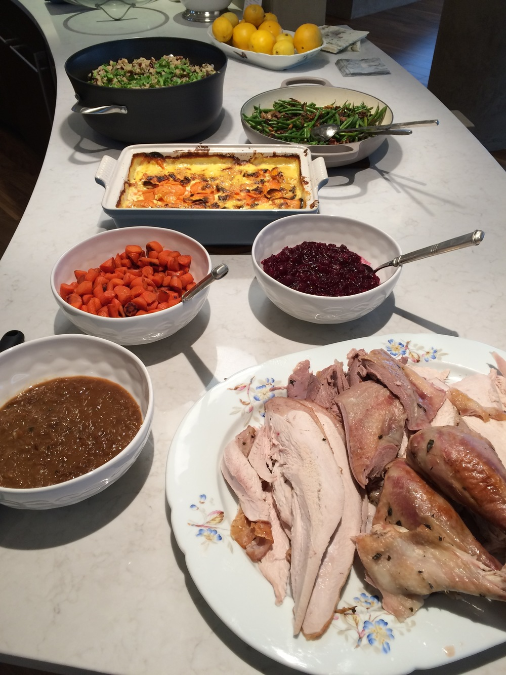 Thanksgiving with ALL the fixins